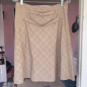 Dresses & Skirts - Brown and pink vintage skirt